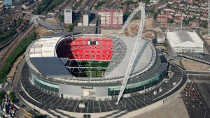 LONDON - APRIL 20: The new Wembley stadium in north London, England. (Photo by Mike Hewitt/Getty Images)